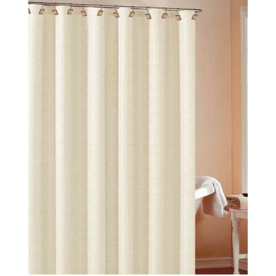 Koepke Fabric Shower Curtain Color: Ivory