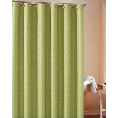 Koepke Fabric Shower Curtain Color: Lime