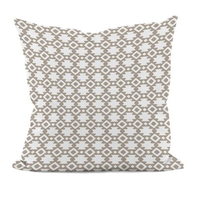 Carignan Throw Pillow Color: Flax, Size: 16 H x 16 W