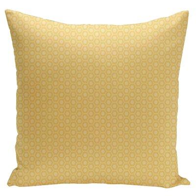 Carignan Throw Pillow Size: 18 H x 18 W, Color: Lemon Soft Lemon