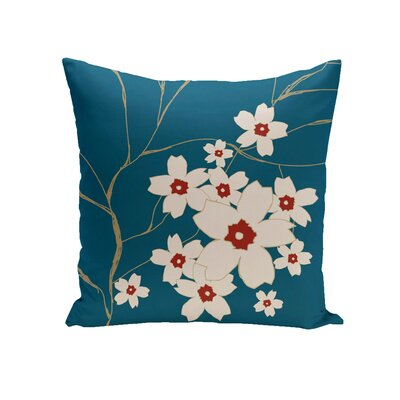 Brune Throw Pillow Size: 16 H x 16 W, Color: Teal / Dragon