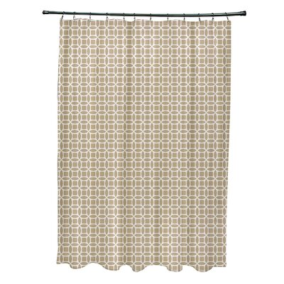 Agin Geometric Shower Curtain Color: Off White/Taupe