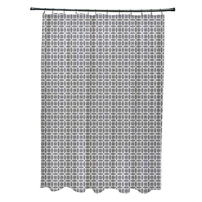 Agin Geometric Shower Curtain Color: Off White/Gray