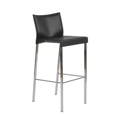 Pasquale 30 inch Bar Stool Upholstery: Black