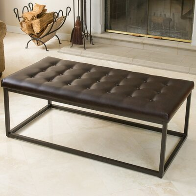 Rainey Ottoman Upholstery: Brown
