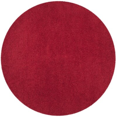 Nickols Red Area Rug Rug Size: Round 67 x 67