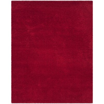 Nickols Shag Red Area Rug Rug Size: 8 x 10