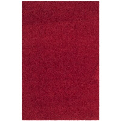 Nickols Shag Red Area Rug Rug Size: 4' x 6'