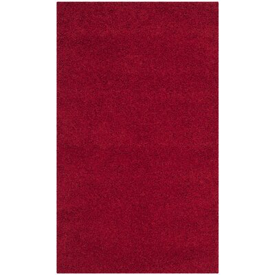 Nickols Shag Red Area Rug Rug Size: 67 x 96