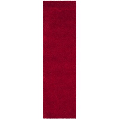 Nickols Red Area Rug Rug Size: Runner 23 x 8