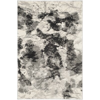 Bussiere Ivory / Gray Area Rug Rug Size: 89 x 12