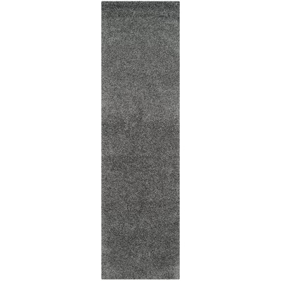 Nickols Shag Dark Gray Area Rug Rug Size: Runner 23 x 8