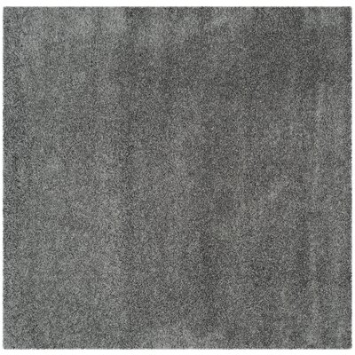 Nickols Shag Dark Gray Area Rug Rug Size: Square 67 x 67