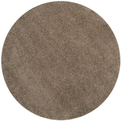 Nickols Shag Taupe Area Rug Rug Size: Round 67 x 67