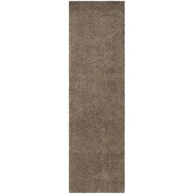 Nickols Shag Taupe Area Rug Rug Size: Runner 23 x 8