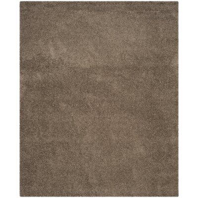 Nickols Shag Taupe Area Rug Rug Size: Rectangle 8 x 10