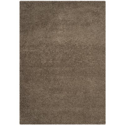 Nickols Shag Taupe Area Rug Rug Size: Rectangle 4 x 6