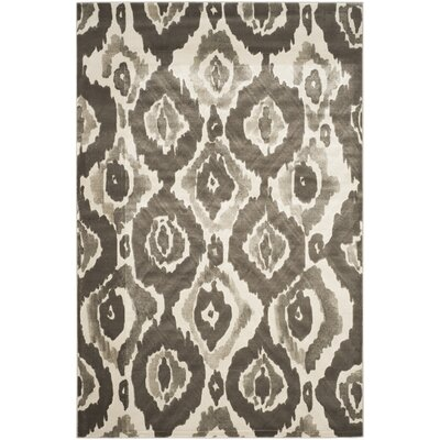 Twilley Ivory / Dark Gray Area Rug Rug Size: 52 x 76