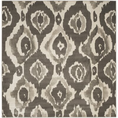 Twilley Ivory / Dark Gray Area Rug Rug Size: Square 67 x 67