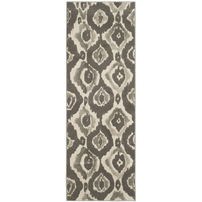 Twilley Ivory / Dark Gray Area Rug Rug Size: Runner 24 x 67