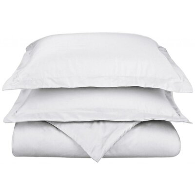 Scheffer 3 Piece Reversible Duvet Cover Set Size: Full / Queen, Color: White