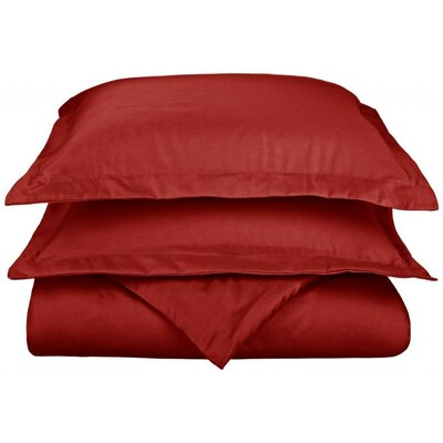 Scheffer 3 Piece Reversible Duvet Cover Set Size: Full / Queen, Color: Burgundy