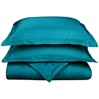 Scheffer 3 Piece Reversible Duvet Cover Set Color: Teal, Size: King / California King