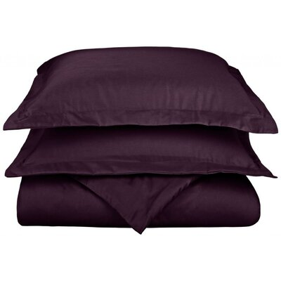 Scheffer 3 Piece Reversible Duvet Cover Set Color: Plum, Size: King / California King