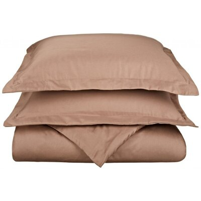 Scheffer 3 Piece Reversible Duvet Cover Set Color: Taupe, Size: King / California King