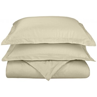 Scheffer 3 Piece Reversible Duvet Cover Set Color: Ivory, Size: King / California King
