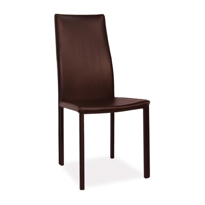 Bowes Dining Chair Upholstery: Dark Brown