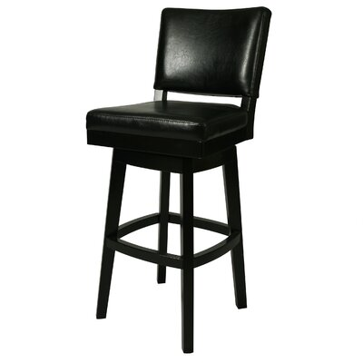 Weinman 26.5 Swivel Bar Stool Finish: Black