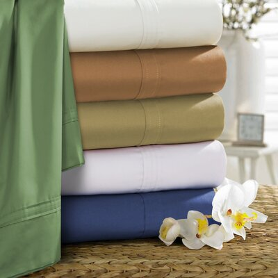 Tavarez 500 Thread Count Egyptian Quality Cotton Extra Deep Pocket 6 Piece Sheet Set Size: California King, Color: Caf�