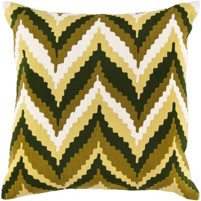 Stallworth Cotton Throw Pillow Size: 18 H x 18 W x 4 D, Color: Olive Oil / English Ivy / Olive / Winter White, Filler: Polyester