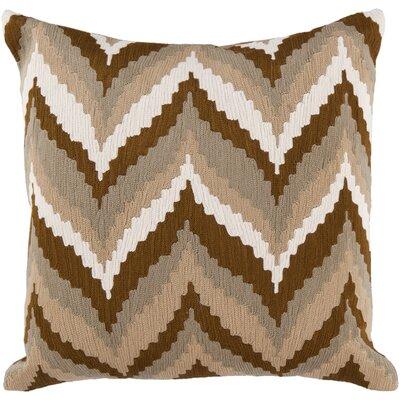 Stallworth Cotton Throw Pillow Size: 18 H x 18 W x 4 D, Color: Tan / Golden Brown / Green / Safari Tan / Papyrus, Filler: Polyester