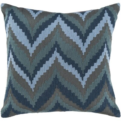 Stallworth Cotton Throw Pillow Size: 18 H x 18 W x 4 D, Color: Marine Blue / Slate Blue / Pewter, Filler: Down