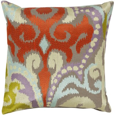 Chamberland Throw Pillow Size: 22 H x 22 W x 4 D, Color: Stone / Poppy Red, Filler: Polyester