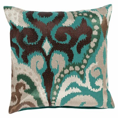 Chamberland Throw Pillow Size: 18 H x 18 W x 4 D, Color: Espresso / Silver Blue, Filler: Down
