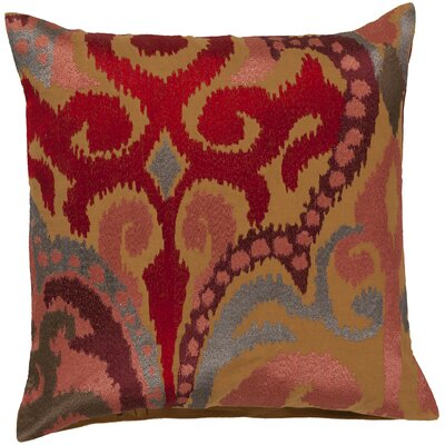 Chamberland Throw Pillow Size: 22 H x 22 W x 4 D, Color: Caramel / Rust Red, Filler: Down
