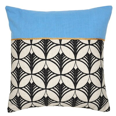 Mcglade Cotton Throw Pillow Color: Blue