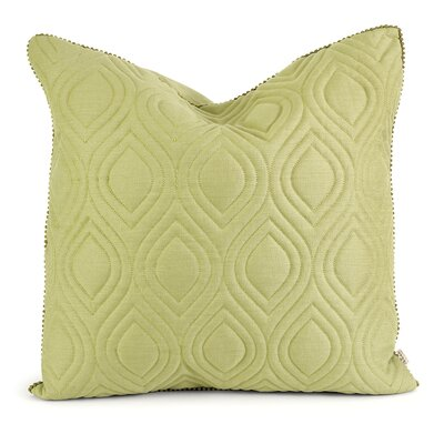 Fairley Linen Throw Pillow Color: Green