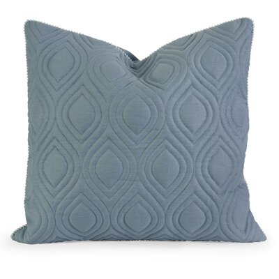 Fairley Linen Throw Pillow Color: Blue