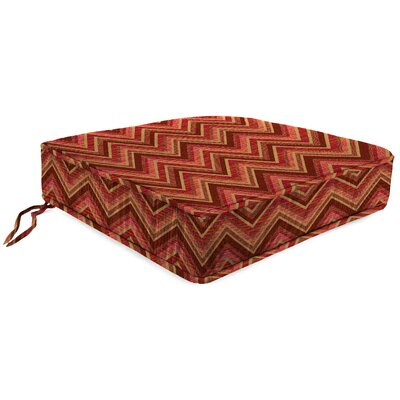 Outdoor Sunbrella Lounge Chair Cushion Fabric: Fisher Sunset