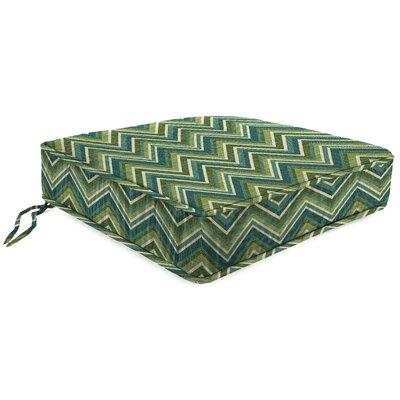 Outdoor Sunbrella Lounge Chair Cushion Fabric: Fisher Lagoon