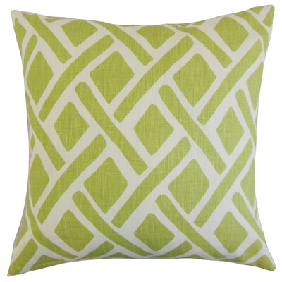 Moton Linen Throw Pillow Color: New Leaf, Size: 18x18