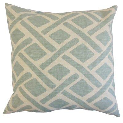 Moton Geometric Linen Throw Pillow Color: Lagoon, Size: 18x18