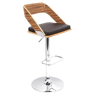 Biles Swivel Bar Stool Upholstery: Zebra / Brown
