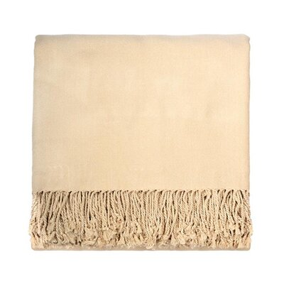 Aman Solid Viscose Rayon from Bamboo Throw Color: Cream
