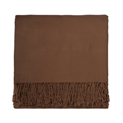 Aman Solid Bamboo Rayon Viscose Throw Color: Taupe