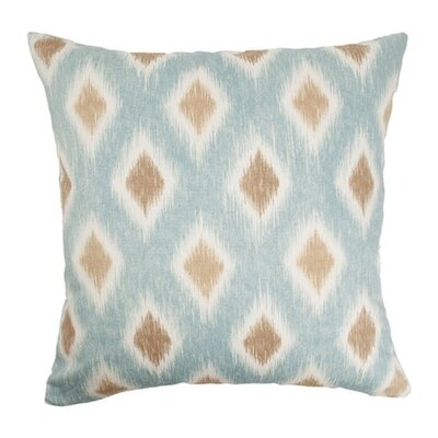 Haber Diamond Cotton Throw Pillow Color: Aquadisiac, Size: 18x18